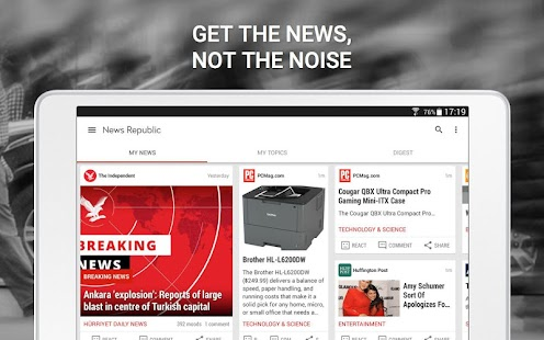News Republic – Breaking news Screenshot