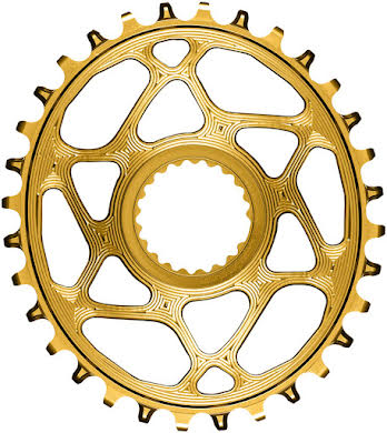 Absolute Black Oval Direct Mount Chainring - Shimano Direct Mount, 3mm Offset, Requires Hyperglide+ Chain alternate image 1
