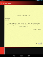 Screenshot of Criminal Quotes