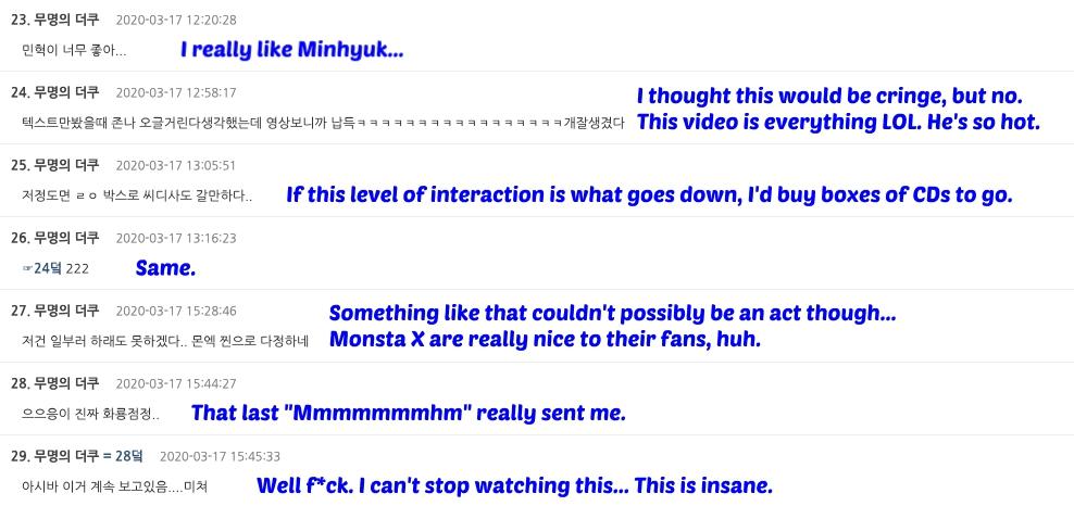 Minhyuk comments