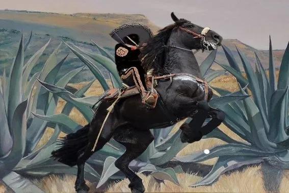 El charro negro montando a caballo - Una Leyenda de Terror Mexicana