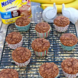 Chocolate Banana Oatmeal Muffins