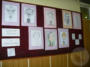 """Photo: Wyniki konkursu """"Polscy nobliści literaccy w karykaturze"""""""
