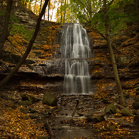 Sherman Fall by Carl Chalupa - Landscapes Waterscapes ( waterfalls, fall, waterfalls in fall,  )
