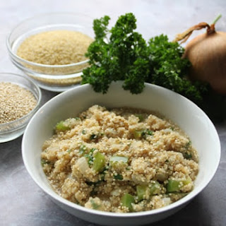 Bulghur Wheat and Quinoa Pilaf.
