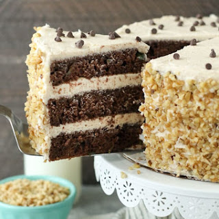 Chocolate Zucchini Cake with Brown Butter Frosting.