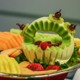 Fruit Well by Myra Brizendine Wilson - Food & Drink Fruits & Vegetables ( pineapple, fruit, strawberries, cantaoupe,  )