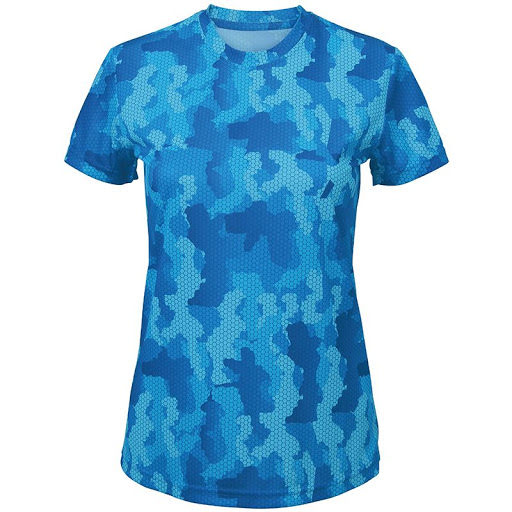 Unisex TriDri Camouflage Performance T-Shirt (Camo Royal)