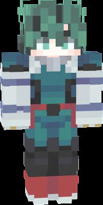 This is 2 skins merged together NOT BY ME! Izuku Midoriya DEKU Deku with long gloves edit and glitch fix