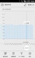 Screenshot of からだグラフ:体重・活動量・歩数・血圧・体温などのデータ管理
