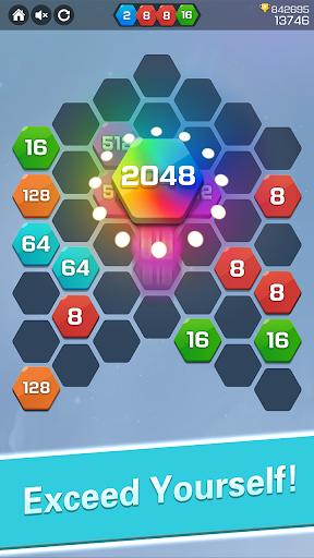 Merge  Block Puzzle - 2048 Hexa apkpoly screenshots 4