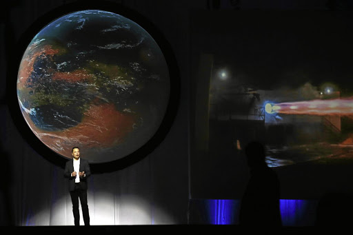 Questions: Elon Musk's attempt to reach Mars with his SpaceX rocket raises the question of what gives one individual the right to monopolise another planet simply because he has the technology to do so, the writer says. Picture: BLOOMBERG