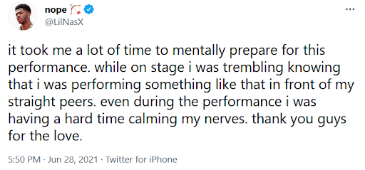 Lil Nas X Gets In Some Tongue Action With Dancer During 2021 BET Awards Performance, Said He Had To 'Mentally Prepare' & Was 'Trembling'