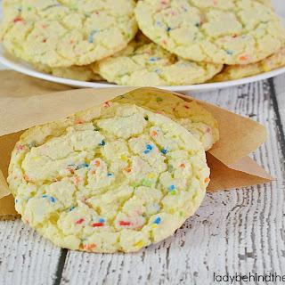 Sprinkles Cake Mix Cookie.