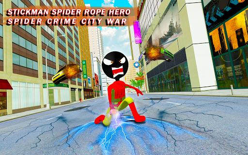 Stickman Crime City War - Stick Rope Hero Game 3 screenshots 6