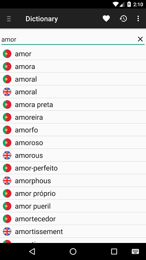 Portuguese English Dictionary - Android Apps on Google Play