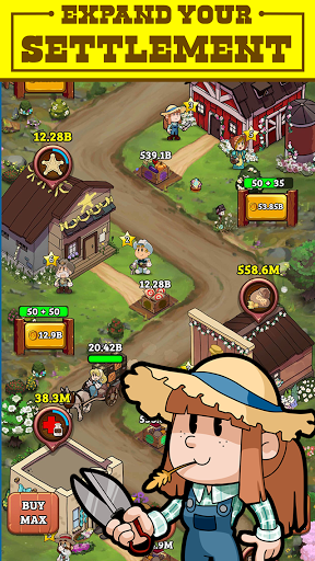 Idle Frontier: Tap Town Tycoon modavailable screenshots 3