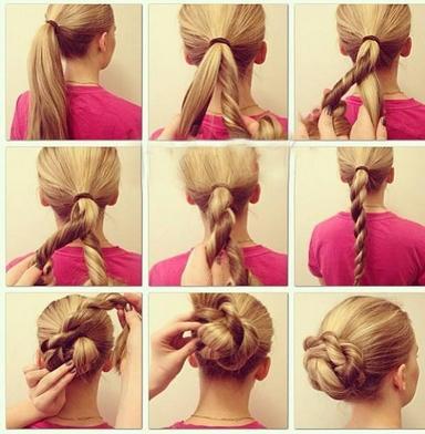 发型教程女孩