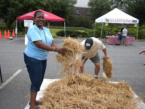 Photo: Lynette in the Straw