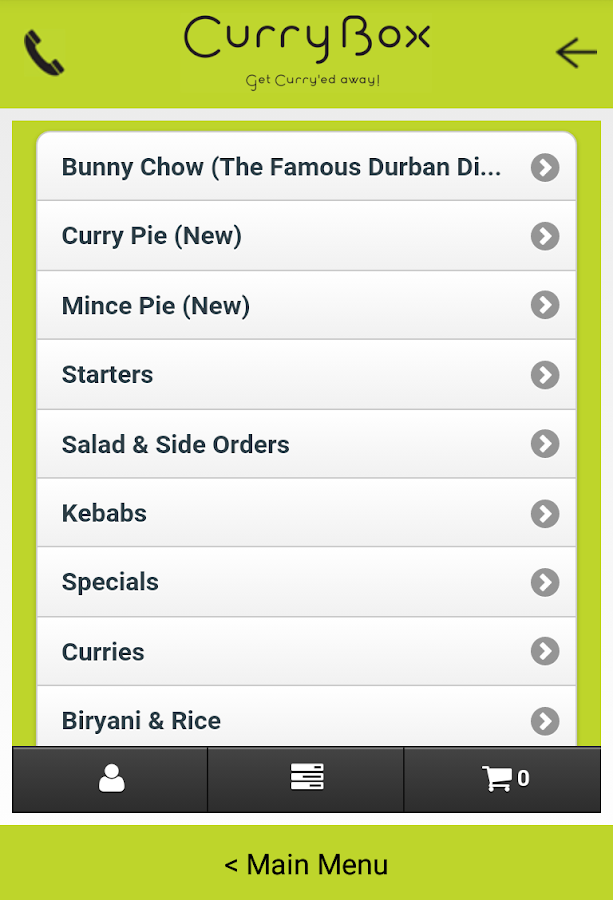 Curry Box- screenshot