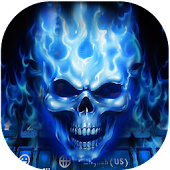 Flaming Skull Kika Keyboard Theme