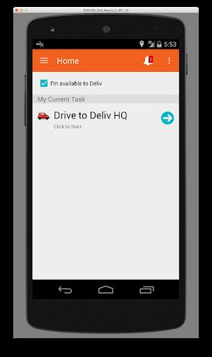 Deliv Driver App
