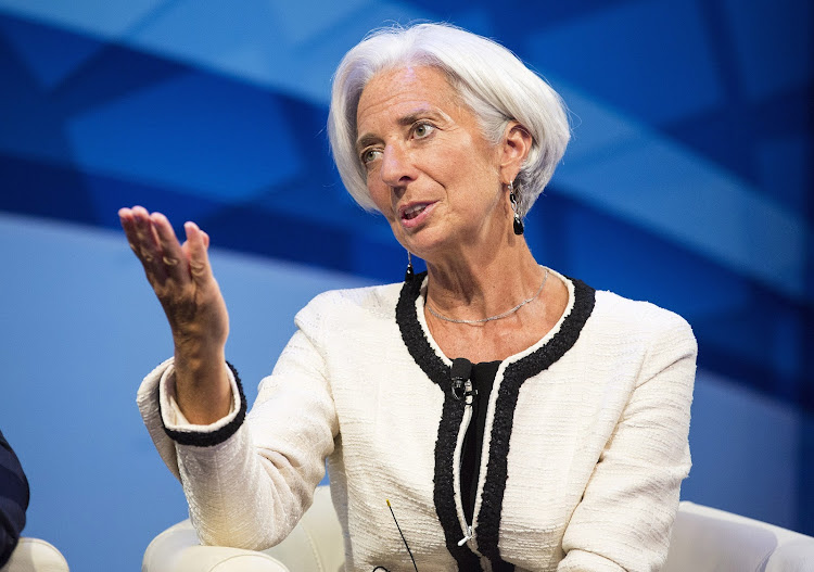 Christine Lagarde.  Picture: REUTERS/JOSHUA ROBERTS