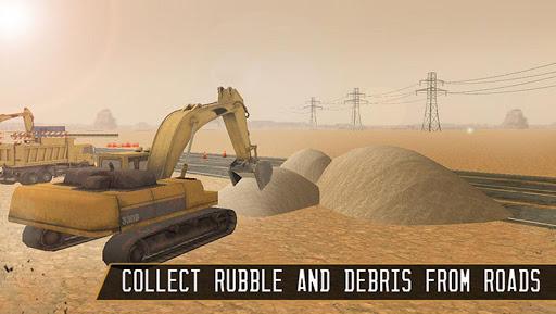 道路建設クレーンドライバー