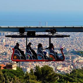 tibidabo by Tyler Sleap - Landscapes Travel ( ride, mountain, park, mediterranean, theme, barcelona, tibidabo, spain, city )