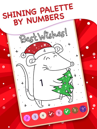Happy Kids Christmas Coloring Book By Numbers apktreat screenshots 2