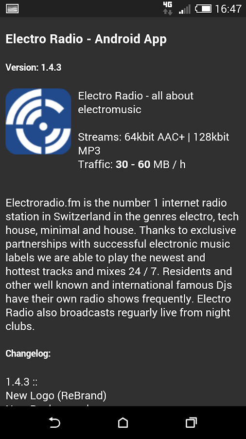 Electro Radio- screenshot