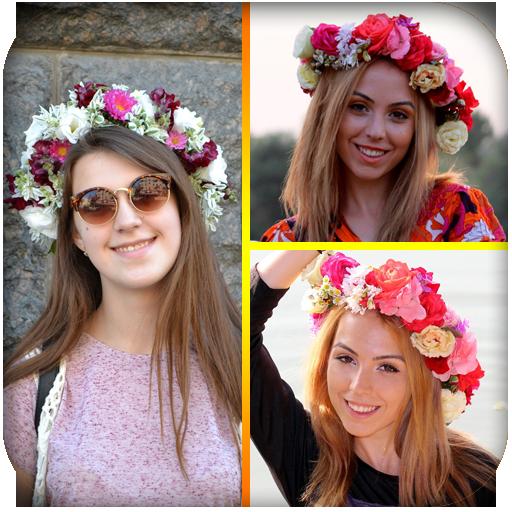 Flower Crown Photo Collage