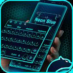 Neon Blue Cheetah Keyboard Theme Icon