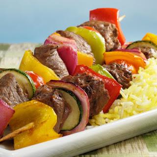 Steak and Vegetable Kebabs