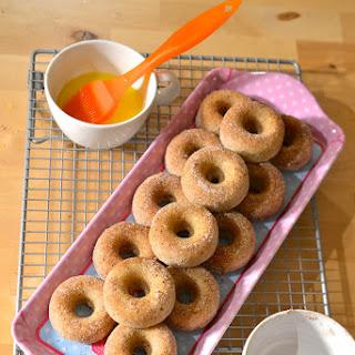 Baby Baked Sour Cream Pumpkin Pie Spice Donuts