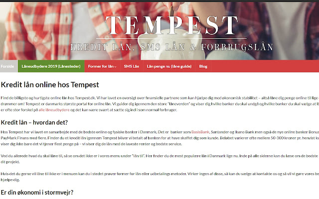 Tempest.dk - Danmarks Online Låneportal!