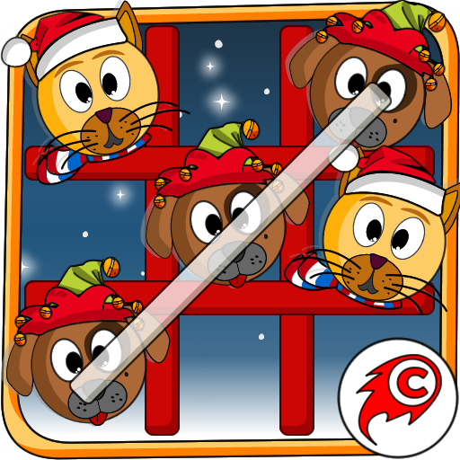 Cat Dog Toe Christmas 🐱🐶🎄 Tic Tac Toe Xmas Game