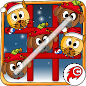 Cat Dog Toe Christmas - Tic Tac Toe Christmas Game