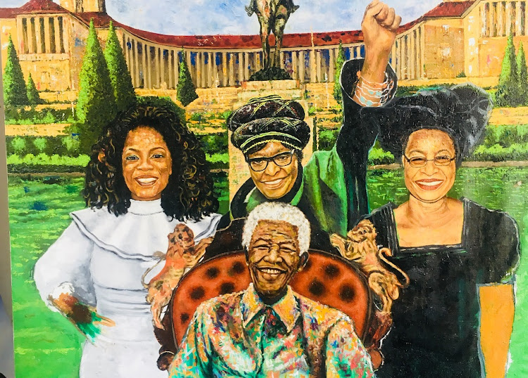 Oil on canvas by Doctor Khumalo. Picture: SUPPLIED