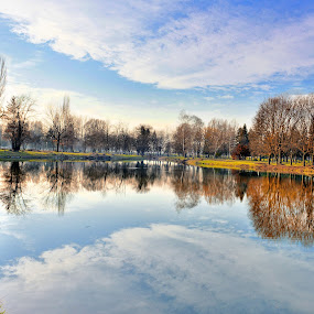 mirror2 by Marko Gilevski - Landscapes Waterscapes ( water reflection, waterscape.park, nature, lake )