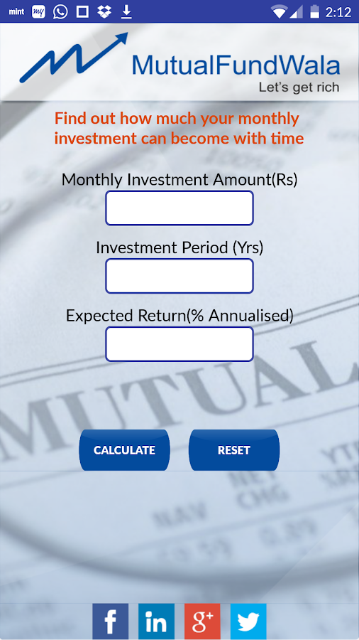 MutualFundWala- screenshot