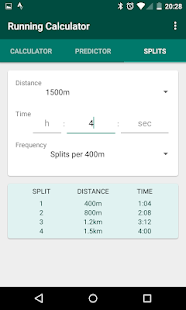 Running Calculator: Pace, Predictions, Race Splits Screenshot