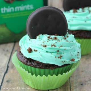 Girl Scout Cookie Thin Mint Cupcakes