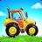 Farm land and Harvest - farming kids games logo