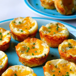 Cheesy Leftover Mashed Potato Muffins.