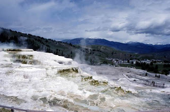 Photo: Mammoth Hot Spring à Yellowstone National Park dans le Wyoming