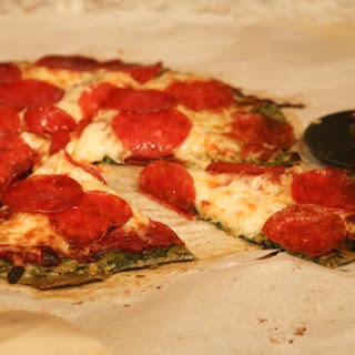 Low Carb Spinach Pizza Crust.