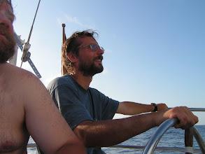 Photo: Поставили дрифтер и наслаждаемся/ Enjoying the sun, light winds and sailing under drifter only