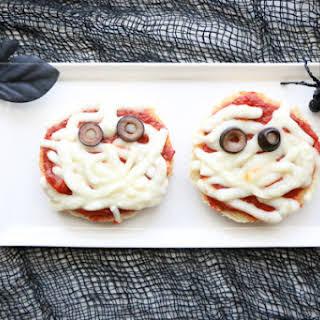 English Muffin Mummy Pizzas.