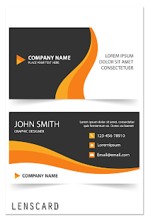 Lenscard Business Card Maker Android Apps On Google Play - Business card template app